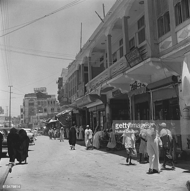 A street in Jedda's business district