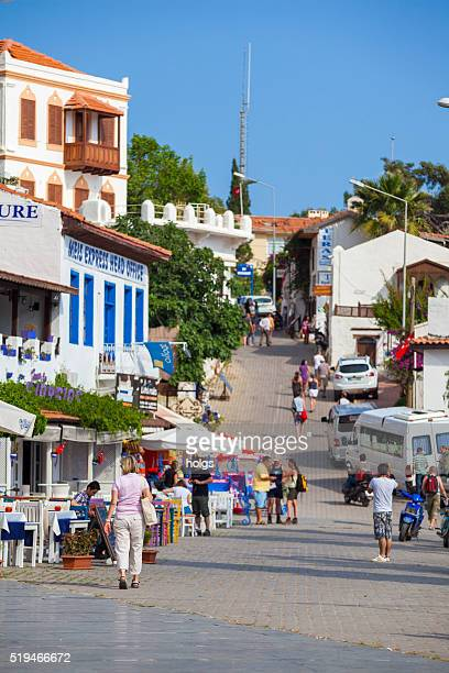 street in kas, turkey - kas stock pictures, royalty-free photos & images