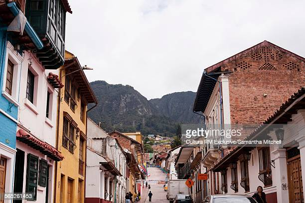 Street in La Candelaria (old town) in Bogota, Colombia, South America
