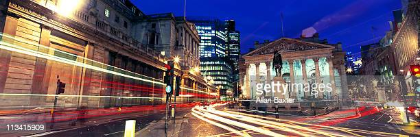 street in london - bank of england stock photos and pictures