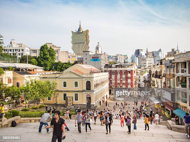 street in macau - macao stock pictures, royalty-free photos & images