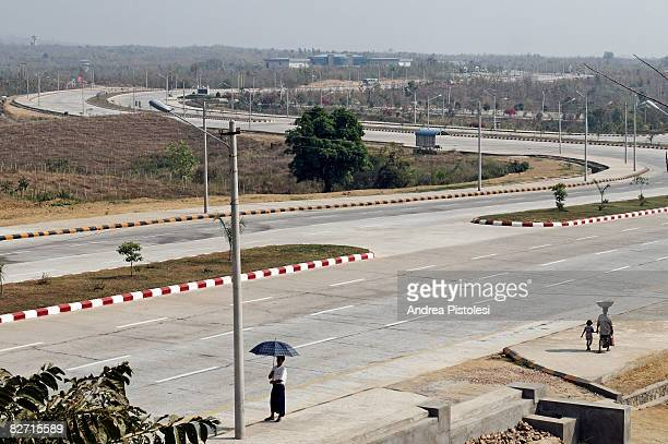 street in nay pyi taw, myanmar - naypyidaw stock pictures, royalty-free photos & images