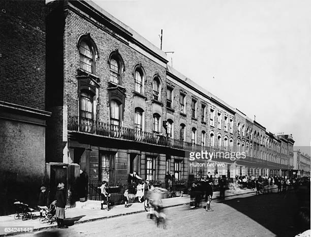 A street in North Kensington London UK circa 1920