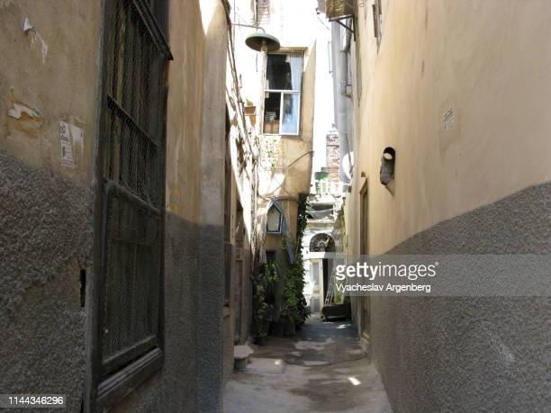 street in old city of damascus, syria - argenberg bildbanksfoton och bilder