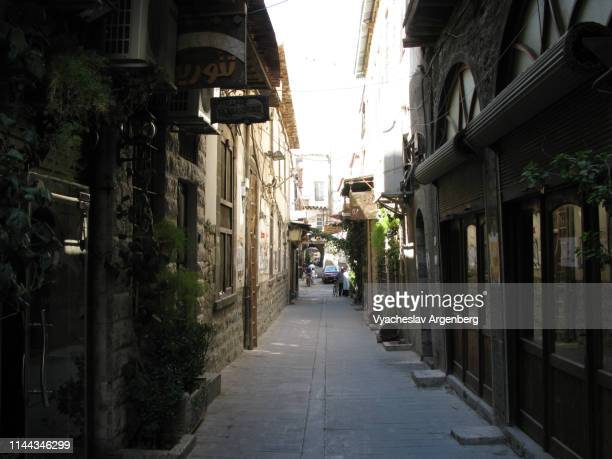 street in old city of damascus, syria - argenberg stock pictures, royalty-free photos & images