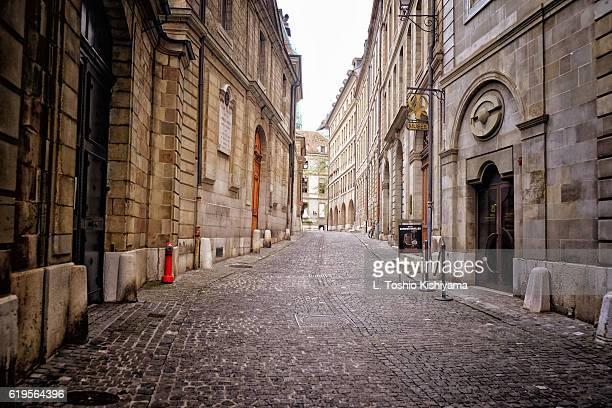 Street in Old Town Geneva, Switzerland