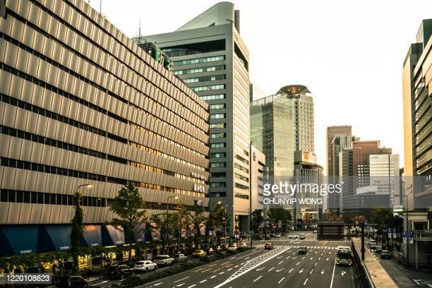 朝の大阪の街 - 大阪 ストックフォトと画像