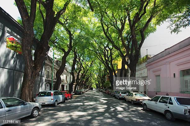 street in palermo viejo, buenos aires, argentina - palermo buenos aires stock photos and pictures