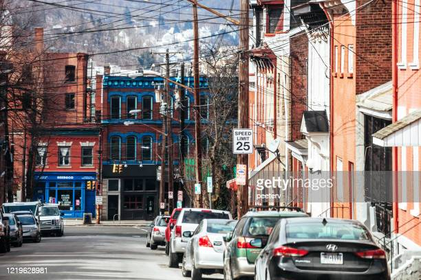 """street in pittsburgh, pa - """"peeter viisimaa"""" or peeterv stock pictures, royalty-free photos & images"""