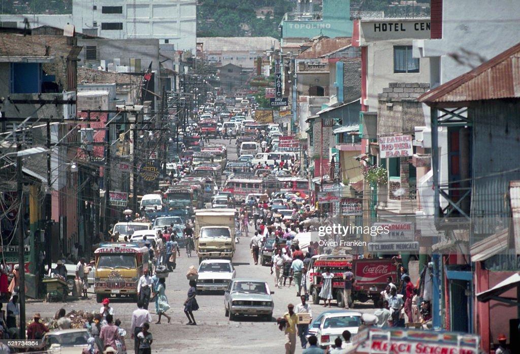 Street in Port au Prince : Stock Photo