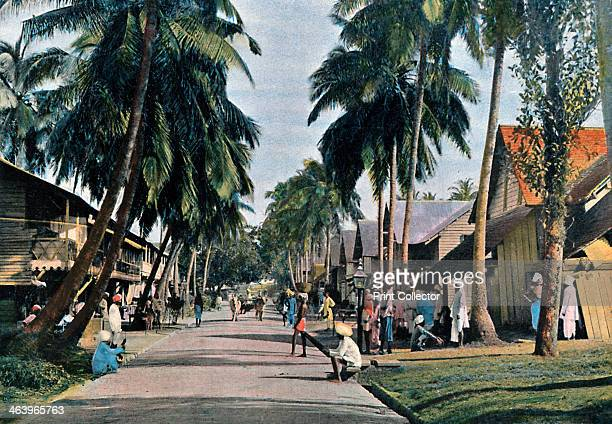 Street in Port Blair Andaman and Nicobar Islands Indian Ocean c1890 Illustration from Iles Andaman et Ceylan Moeurs et Coutumes by L Boulanger