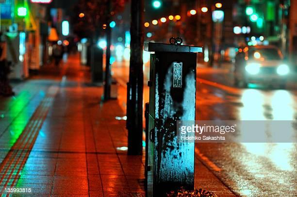 street in rain - 埼玉県 ストックフォトと画像