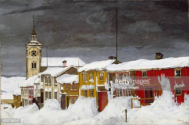 Street in Røros in Winter Found in the collection of National Museum of Art Oslo