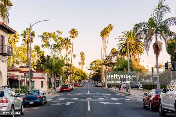 street in santa barbara, california, usa - california stock pictures, royalty-free photos & images