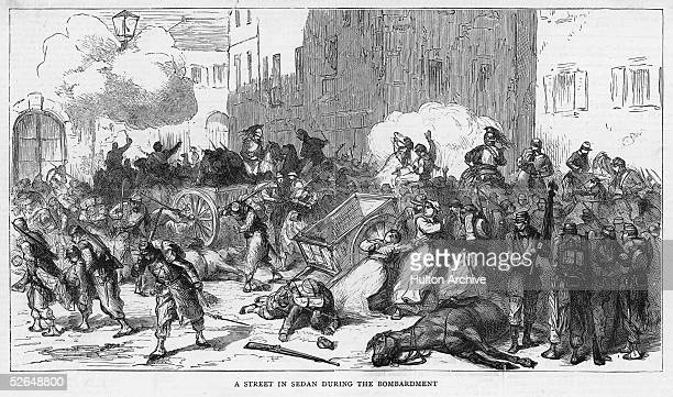 the French are decisively defeated at the Battle of Sedan during the FrancoPrussian War 1st September 1870