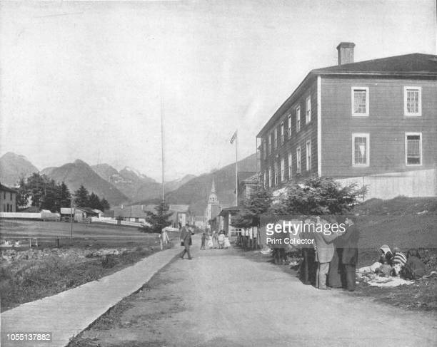 A street in Sitka Alaska USA circa 1900 Sitka was originally settled by the Tlingit people over 10000 years ago It was the capital of Russian America...