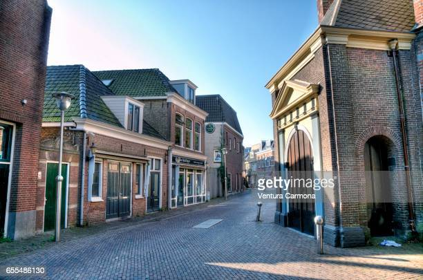 Street in Sneek - Friesland, Ntherlands