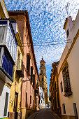 colorful architecture streets center utrera andalusia
