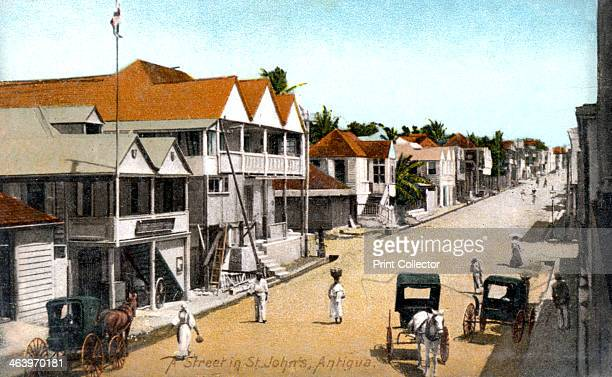 A street in StJohn's Antigua c1900s From the West Indian View series of postcards