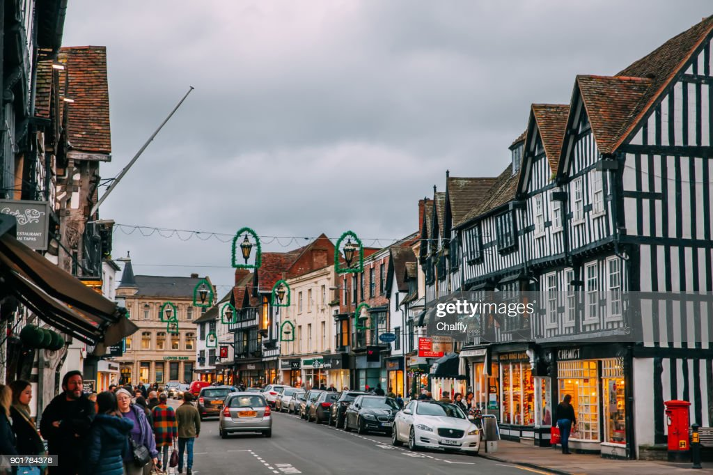 Street in Stratford-upon-Avon,UK. : Stock Photo