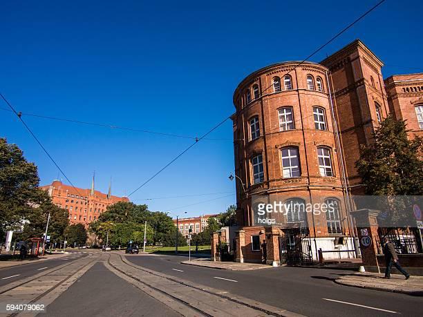 Street in Szczecin, Poland