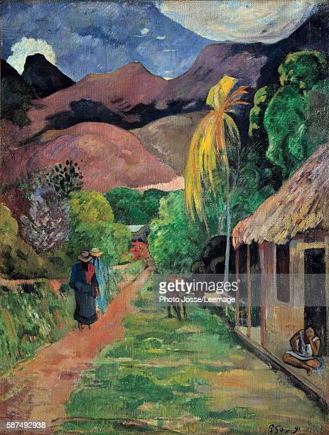Street in Tahiti. Painting by Paul Gauguin 1891. Museum of arts, Toledo, USA