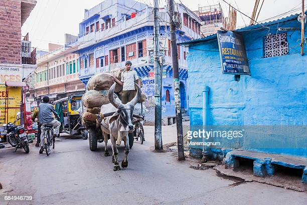 Street in the blue town