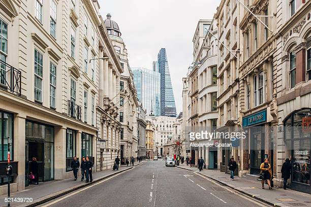 Street in the business district of City of London, Greater London, United Kingdom