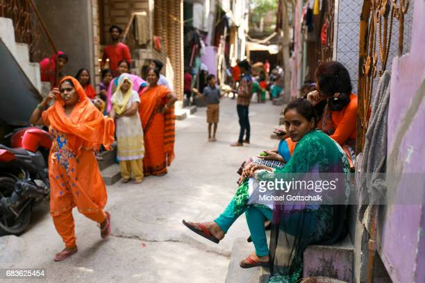Street in the city district of Chentanalaya in Delhi Here the Caritas supports urban marginalized groups on April 05 2017 in Dehli India