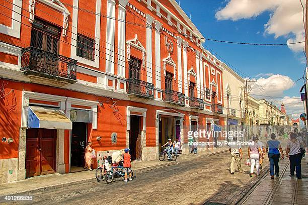 street in the city - merida mexico stock photos and pictures
