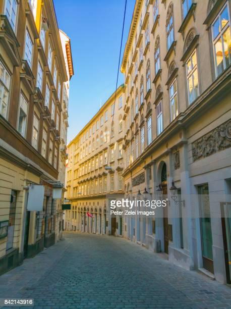 Street in the downtown of Vienna, Austria