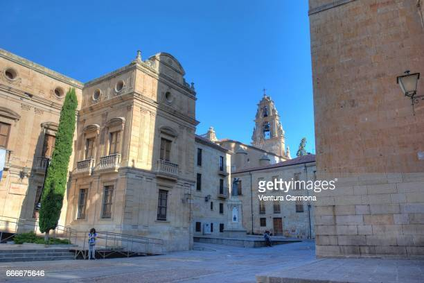 street in the old city of salamanca, spain - geschichtlich stock pictures, royalty-free photos & images