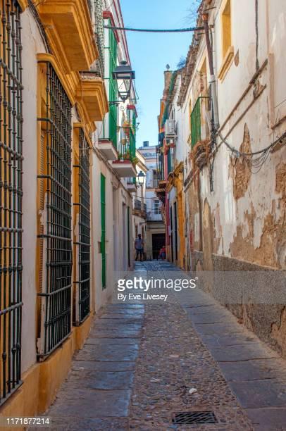 street in the old town - jerez de la frontera - jerez de la frontera fotografías e imágenes de stock