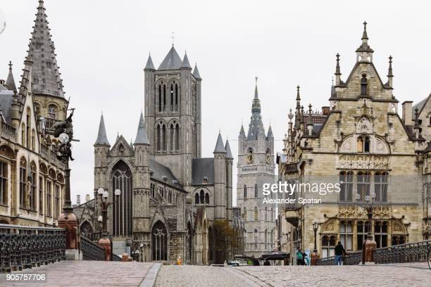 Street in the old town of Ghent, Belgium