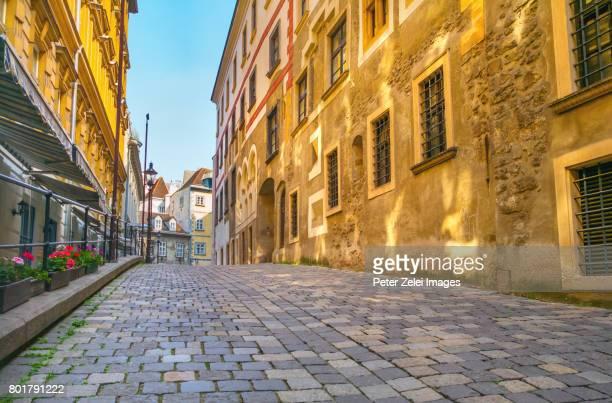 street in the old town of vienna, austria - viena áustria - fotografias e filmes do acervo