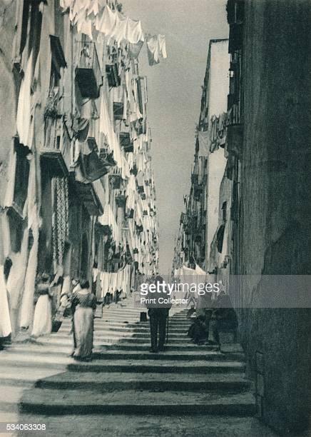 Street in the suburbs Naples Italy' from 'Italien in Bildern' by Eugen Poppel 1927