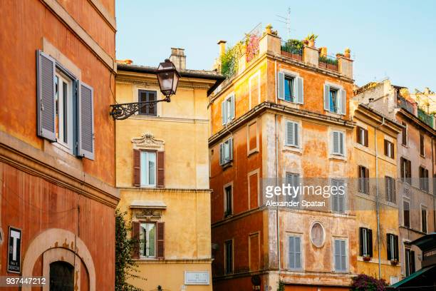 Street in Trastevere district in Rome, Italy