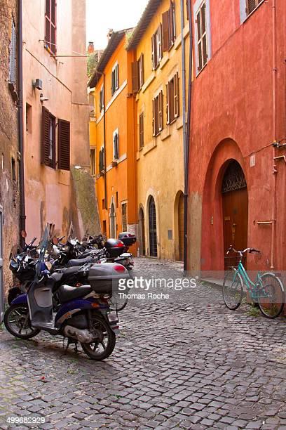 Street in Trastevere, Rome Italy