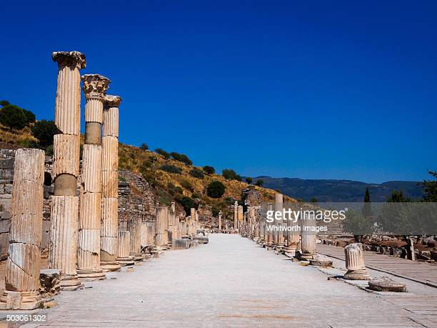 Street in Upper Agora, ancient Ephesus, Turkey