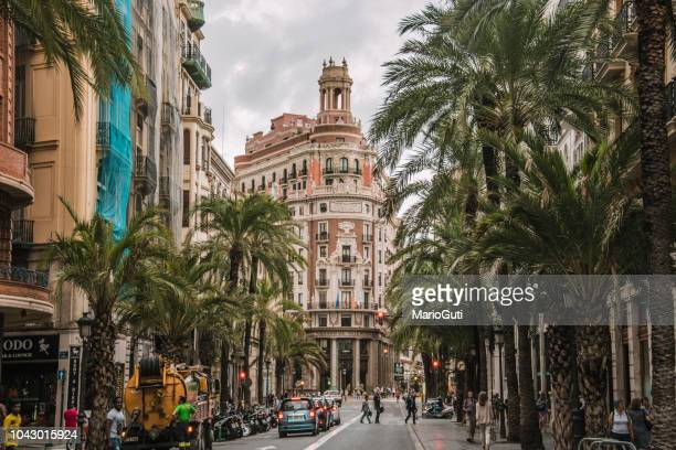 street in valencia, spain - valencia spain stock pictures, royalty-free photos & images