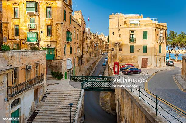 street in valletta malta - malta stock pictures, royalty-free photos & images