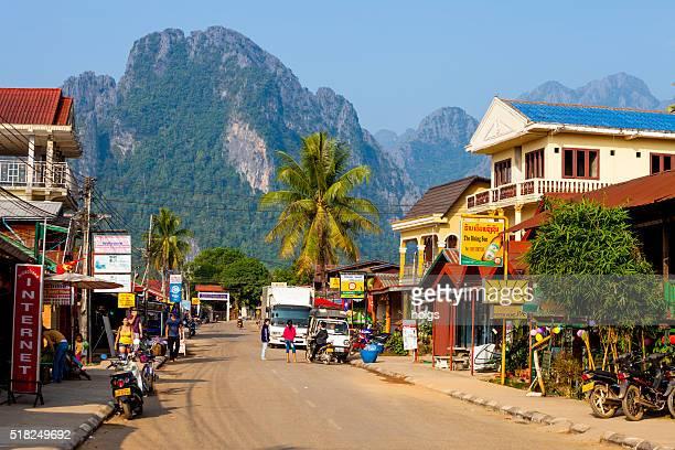 Street in Vang Vieng, Laos