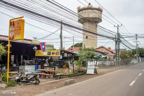 Street in Vientiane Laos in December 2018