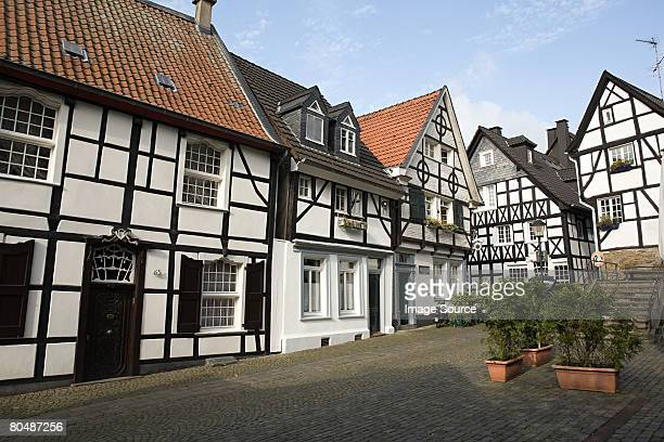 street in werden - essen germany stock pictures, royalty-free photos & images
