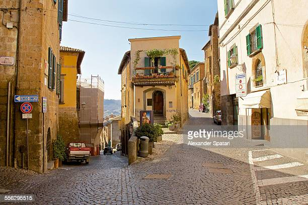 Street intersection and corner house in Orvieto