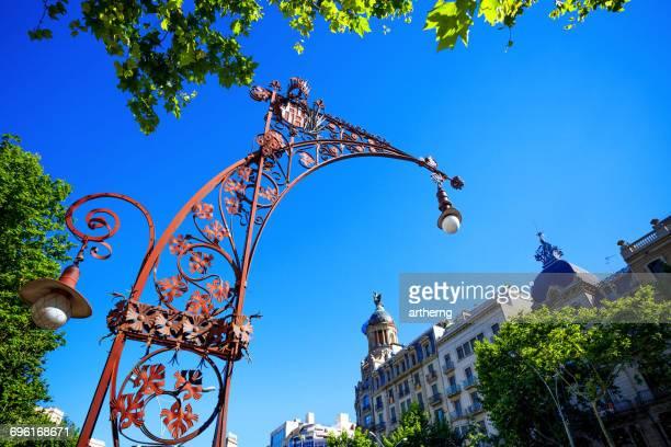 Street Lamps Along Passeig de Gracia, Barcelona, Spain