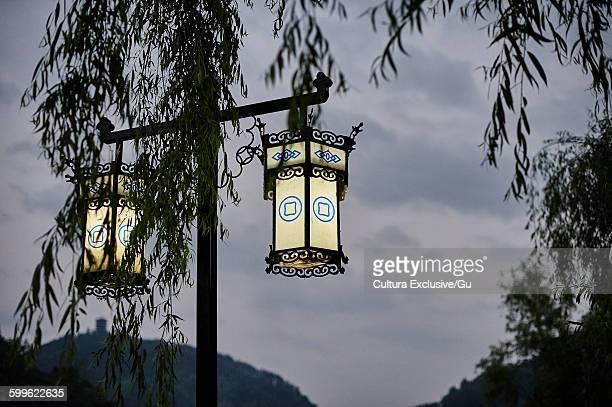 Street lamps, Fenghuang, Hunan, China