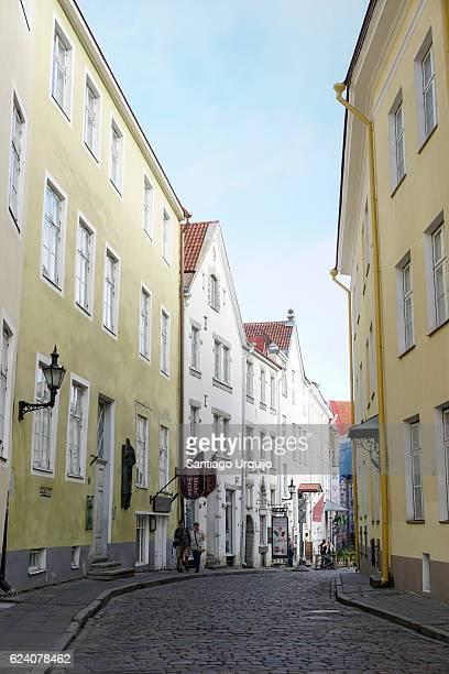 Street leading to Tallinn town hall square