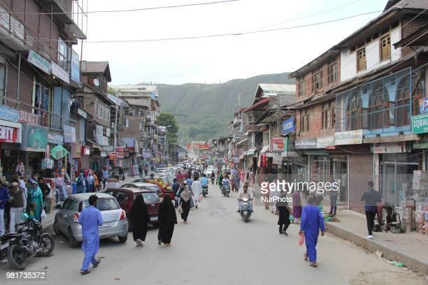 Street life in Baramulla city Jammu amp Kashmir India on 20 June 2018