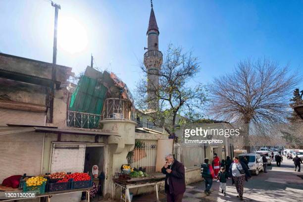 street life in front of namazgah mosque in izmir. - emreturanphoto stock pictures, royalty-free photos & images